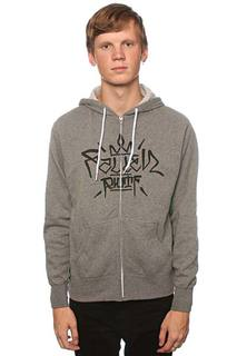 Толстовка Fallen Turf Zip Hood Heather Grey/Black