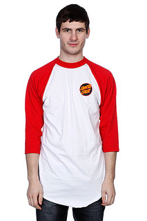 Футболка Santa Cruz Other Dot Raglan White/Red