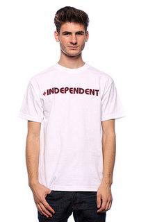 Футболка Independent Bar/Cross White