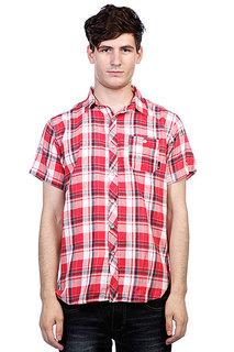 Рубашка в клетку Fallen Emeraldy Washed Red
