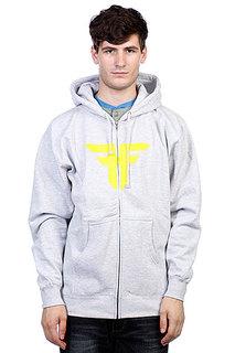 Толстовка Fallen Trademark Hood Heat Grey/Fluro Yellow