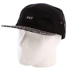 Бейсболка пятипанелька Huf Retro Volley Black