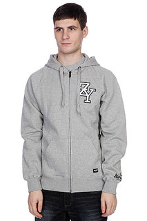 Толстовка Zoo York Zip Zy Hoody Lt Grey Heather