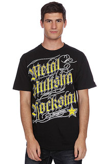 Футболка Metal Mulisha Black Letter Rs Black