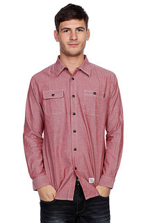 Рубашка Huf Marshall Chambray L/S Shirt Brick