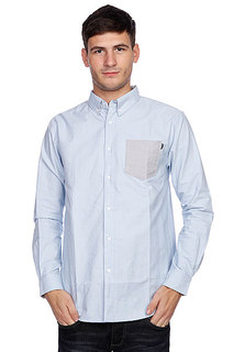 Рубашка Huf Rushmore Oxford L/S Shirt Blue