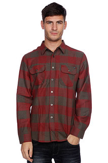 Рубашка в клетку Huf Thompson Buffalo Flannel Dusty Olive/Maroon