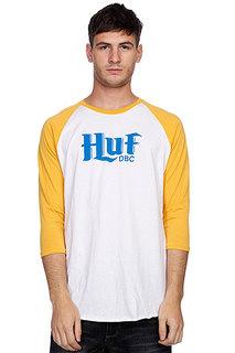 Лонгслив Huf Authentic Raglan White/Mustard