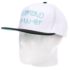 Бейсболка Diamond Cities Snapback White/Black