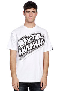Футболка Metal Mulisha Damaged Tee White
