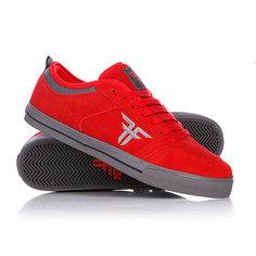 Кеды кроссовки низкие Fallen Clipper Se Blood Red/Pew Grey