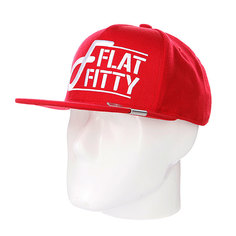 Бейсболка Flat Fitty Stacked Red