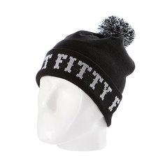 Шапка с помпоном Flat Fitty Ftfy Black