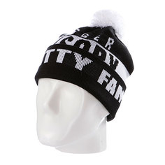 Шапка с помпоном Flat Fitty Swagger Fam Black/White