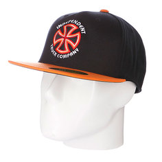 Бейсболка Flexfit Independent Bauhaus Cross Flexfit Black/Orange