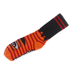 Носки средние Toy Machine Sect Eye Stripe Orange/Red