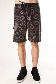 Пляжные мужские шорты Zoo York Bandana Black