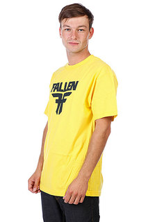 Футболка Fallen Insignia Logo Yellow/Mid Blue