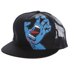Бейсболка с сеткой Santa Cruz Screaming Hand Trucker Black
