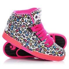 Кеды кроссовки высокие женские Osiris Nyc Slim Leo Pink