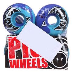 Колеса для скейтборда для скейтборда Pig Head Swirl Blue 101A 51 mm