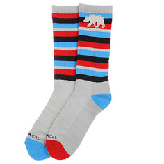 Носки высокие Nor Cal Stripe Sock Blue Red Stripe