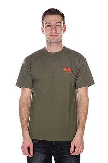 Футболка Fallen Poler X Fallen Shirt Army/Orange