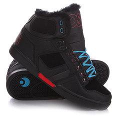Кеды кроссовки высокие Osiris Nyc Shr Black/Red/Blue