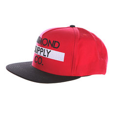 Бейсболка Diamond Bar Logo Snapback Red/Black
