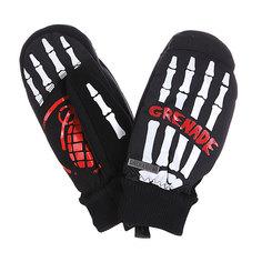 Варежки сноубордические Grenade Skeleton Black