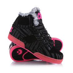 Зимние кеды женские Osiris Shr Black/Zebra/Pink