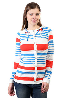 Женская толстовка Picture Organic Seal Cardigan Ml Stripe White