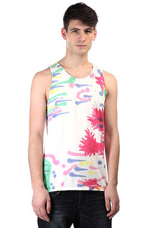 Майка Huf Leaves Tie Dye Tank Rainbow