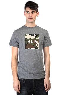 Футболка Huf Camo Logo Tee Grey Heather