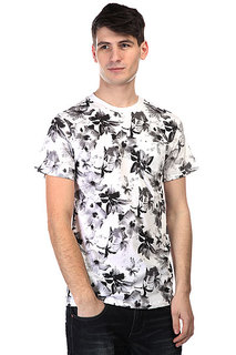 Футболка Huf Floral Pocket Tee White Black