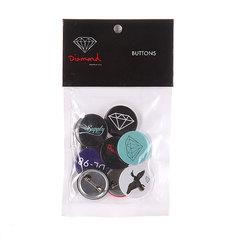 Комплект значков Diamond Button 9 Pack Multi