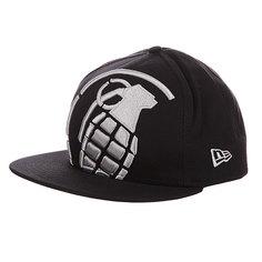 Бейсболка New Era Grenade NewEra Big Crop Black/White