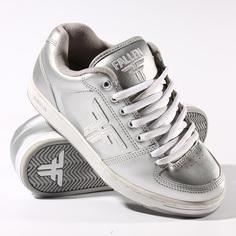 Кеды кроссовки низкие Fallen Old Patriot Silver/White