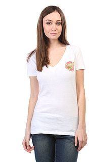 Футболка женская Santa Cruz Classic Dot V-Neck White