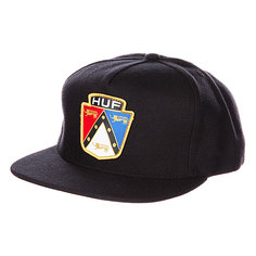 Бейсболка Huf Badge Snapback Black