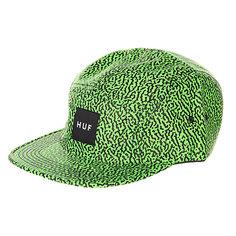 Бейсболка пятипанелька Huf Hufmemphis Box Logo Volley Lime