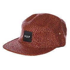 Бейсболка пятипанелька Huf Memphis Box Logo Volley Wine