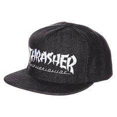 Бейсболка Huf X Thrasher Asia Tour Snapback Black