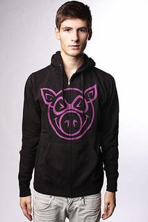 Толстовка классическая Pig Basic Black/Purple