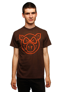 Футболка Pig Basic Slimfit Brown