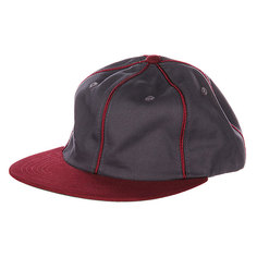 Бейсболка Huf Ghw Jackson 6 Panel Gray Heather/Wine