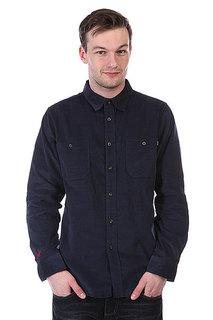 Рубашка Huf Alaster Cord Woven Dark Navy