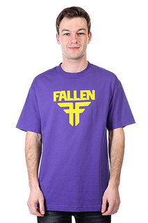 Футболка Fallen Insignia Logo Purple/Yellow