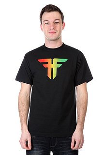 Футболка Fallen Trademark Black/Rasta Fade