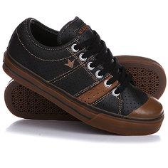 Кеды кроссовки низкие Dekline Deuce Black/Brown/Gum